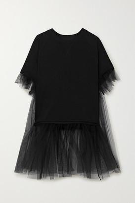 MM6 MAISON MARGIELA Cotton-blend Jersey And Tulle T-shirt
