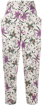 Isabel Marant Floral Print Tapered Trousers