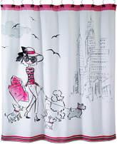 "Avanti Chloe 72"" Square Graphic-Print Shower Curtain"