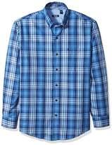 Izod Men's Long Sleeve Twill Easycare Plaid Shirt