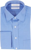 Roundtree & Yorke Gold Label Non-Iron Fitted Spread-Collar Solid Dress Shirt