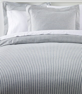 L.L. Bean Ultrasoft Comfort Flannel Comforter Cover Collection, Stripe