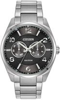 Citizen Eco-Drive Men's 42mm Day/Date Dress Watch in Stainless Steel