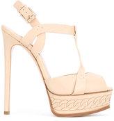 Casadei chain-effect platform t-strap sandals