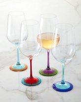 DKNY Color-Base Wine Glasses, 4-Piece Set