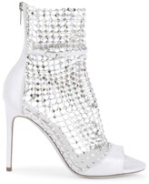 Rene Caovilla Galaxia Crystal Mesh Leather Sandals