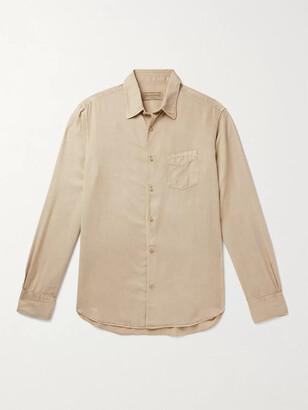 Officine Generale Benoit Garment-Dyed Lyocell Shirt
