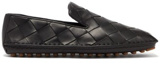 Bottega Veneta Intrecciato Leather Loafers - Mens - Black