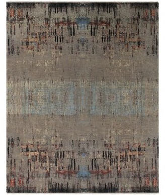 Surya Colaba Hand-Knotted Camel/Aqua Area Rug Rug Size: Rectangle 9' x 13'