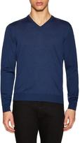 Toscano Men's Wool V-Neck Sweater