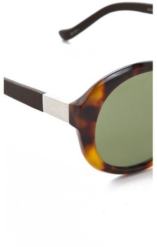 The Row Leather Jackie O Sunglasses