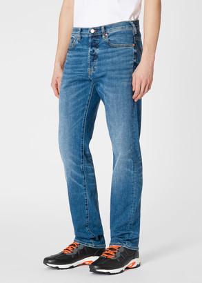 Paul Smith Men's Standard-Fit Antique-Wash 'Soft Stretch' Jeans
