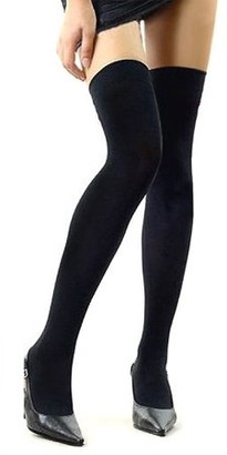 Its All Goods Over The Knee Sexy Cotton Compression Socks - Black