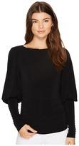 Nicole Miller Elizabetta Matte Jersey Puff Sleeve Top Women's Clothing