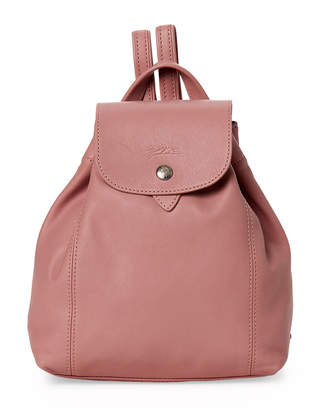 Longchamp Pink Le Pliage Extra Small Leather Backpack
