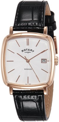 Rotary Mens Analogue Classic Quartz Watch with Leather Strap GS05309/01