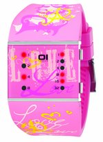 01 The One 01TheOne Women's SLSL138R3 Slim Square Classic LED Watch