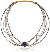 Steve Madden Faceted Bead Mixed Hair Chain