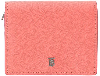 Burberry Pink Leather Credit Card Holder With Chain