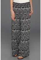 Quiksilver Sketchy Squares Palazzo Pant (Sketchy Squares) Women's Casual Pants