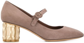 Salvatore Ferragamo Mary Jane mid-heel pumps