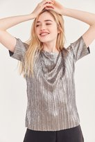 Silence & Noise Silence + Noise Hansoll Metallic Accordion Pleat Top