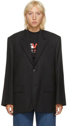 Balenciaga Black Wool Seamless Blazer