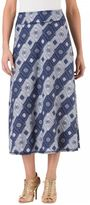 Haggar Women's Pull-On Printed Maxi Skirt