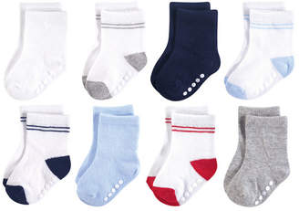 Luvable Friends Unisex Baby Basic Socks 8Pack 0-24 months