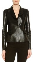 Tom Ford Natural Satine Fitted Leather Jacket, Black