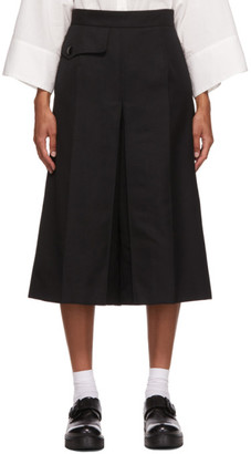 Y's Ys Black Wool K-3/4 Trousers