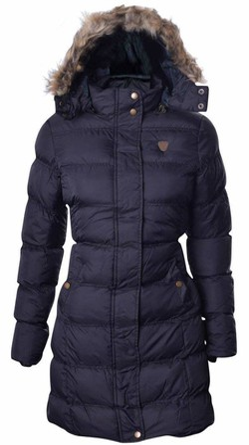 Brave Soul Womens Long Fur Trimmed Hooded Padded Puffer Parka Winter Jacket Coat UK 8 /US 6/ AUS 10/ EU 36/ X Small Black