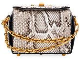 Alexander McQueen Box 16 Matte Rock Python Satchel Bag, Snake