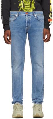 Heron Preston Blue Slim 5Pockets Jeans