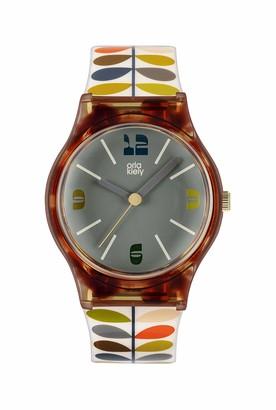 Orla Kiely Women's Analogue Analog Quartz Watch with Plastic Strap OK2338