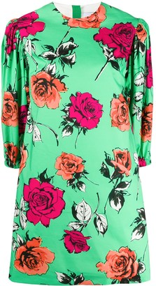 MSGM Floral Mini Shift Dress