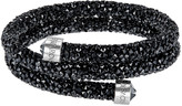 Swarovski Crystaldust Bangle Double, Black