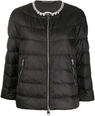 Ermanno Scervino Embellished-Neck Puffer Jacket