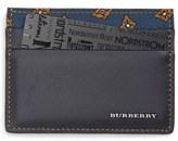 Burberry Calfskin Leather Card Case
