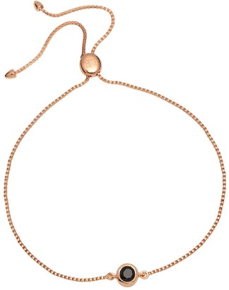 Lola Rose London Curio Stud Slider Bracelet Black Spinel