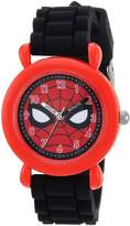 Marvel Boy's 'Spider-Man' Quartz Plastic and Silicone Casual Watch, Color: (Model: WMA000238)