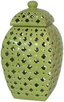 Three Hands Pierced Jar - Green - Large