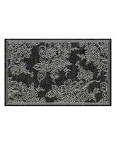 Mackenzie Childs MacKenzie-Childs Wild Rose Rug, Black, 5' x 8'