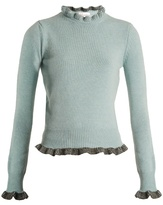 Redvalentino Ruffle-trimmed Wool Sweater