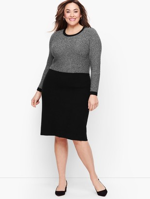 Talbots Marled Colorblock Sweater Dress