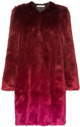 Mary Katrantzou Thalia ombre faux fur coat