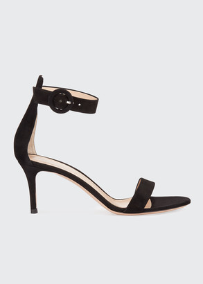Gianvito Rossi Portofino 70mm Ankle-Wrap Sandals