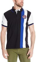 U.S. Polo Assn. Men's Vertical Stripes Color Block Pique Polo Shirt