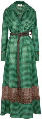 Fendi Vichy Pattern Long Dress