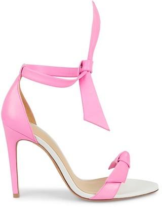 Alexandre Birman Clarita Leather Tie-Strap Sandals